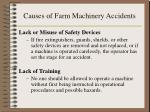 causes of farm machinery accidents13