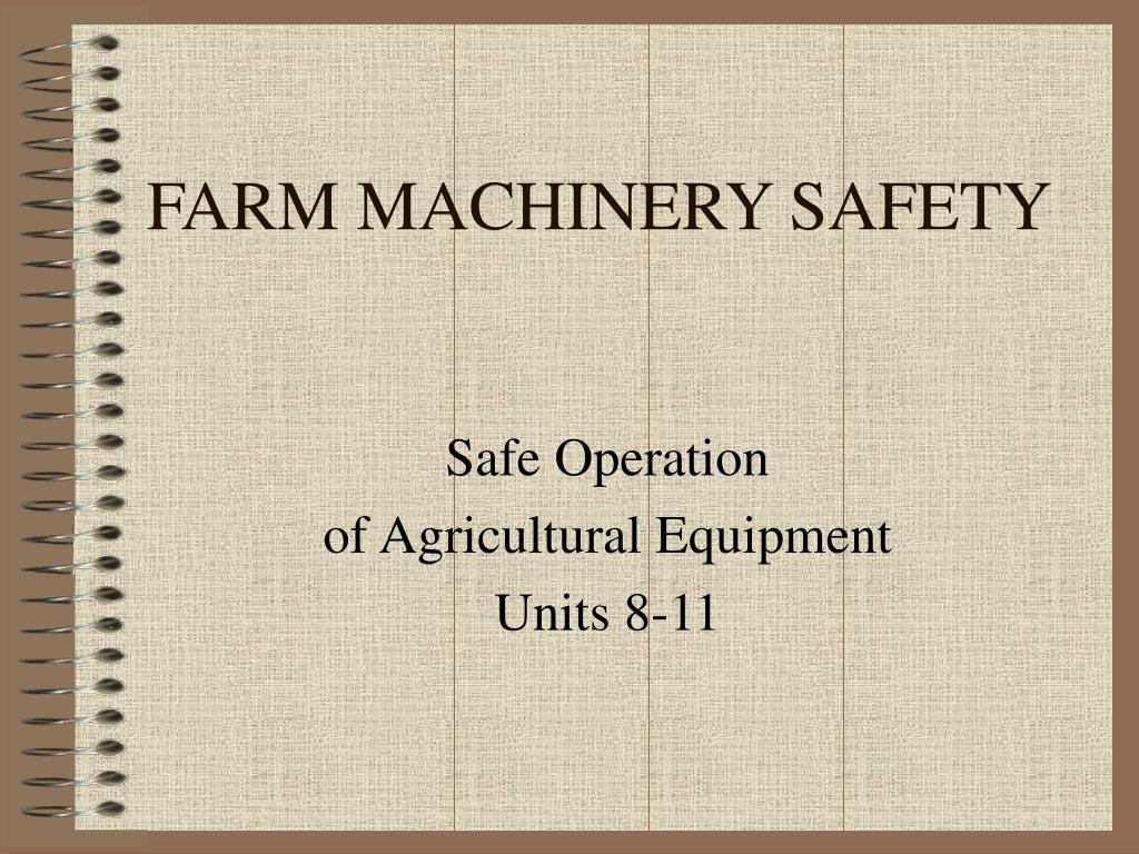farm machinery safety l.