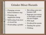 grinder mixer hazards