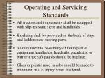 operating and servicing standards