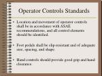 operator controls standards