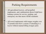 parking requirements