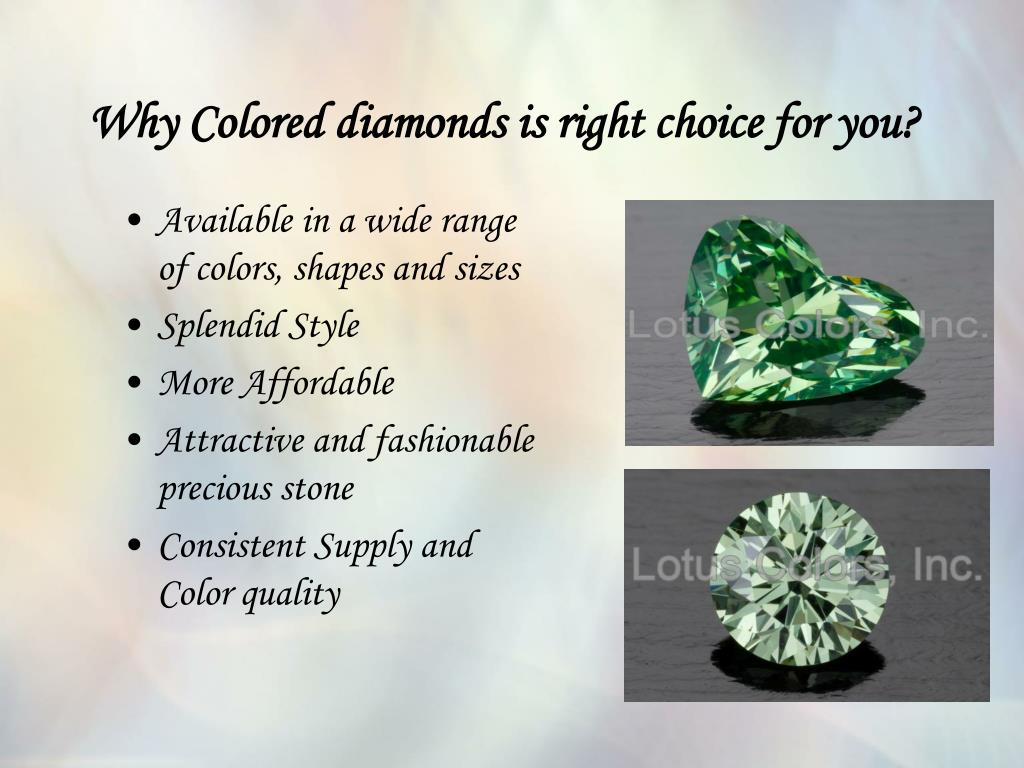 Why Colored diamonds is right choice for you?