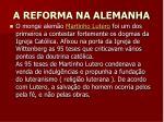 a reforma na alemanha