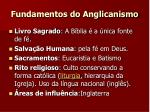fundamentos do anglicanismo