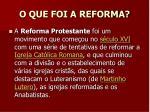 o que foi a reforma