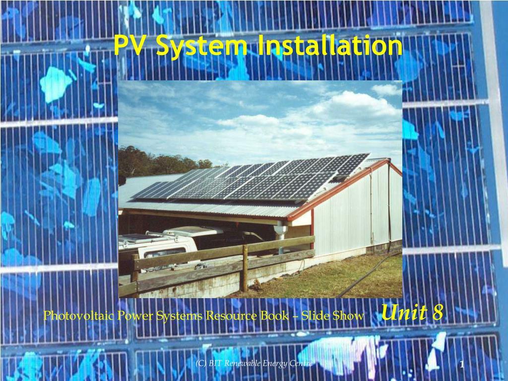 pv system installation l.