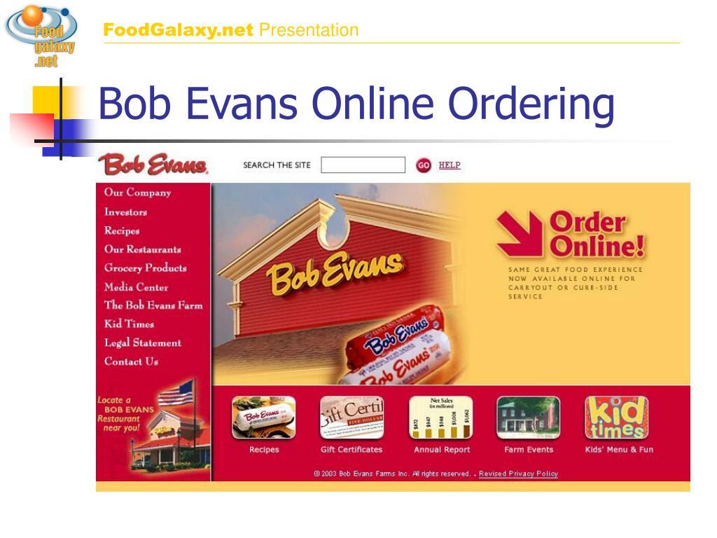 bob evans online ordering l.