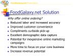 foodgalaxy net solution