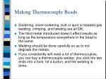 making thermocouple beads
