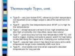 thermocouple types cont
