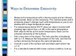 ways to determine emissivity