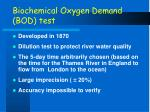 biochemical oxygen demand bod test