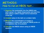 methods how to run an hbod test