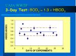 uaja wwtp 3 day test bod 5 1 3 hbod 3