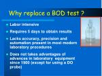 why replace a bod test