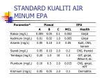 standard kualiti air minum epa