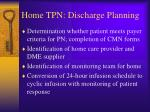 home tpn discharge planning