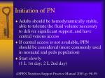 initiation of pn