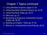 chapter 1 topics continued