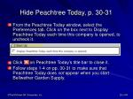 hide peachtree today p 30 31