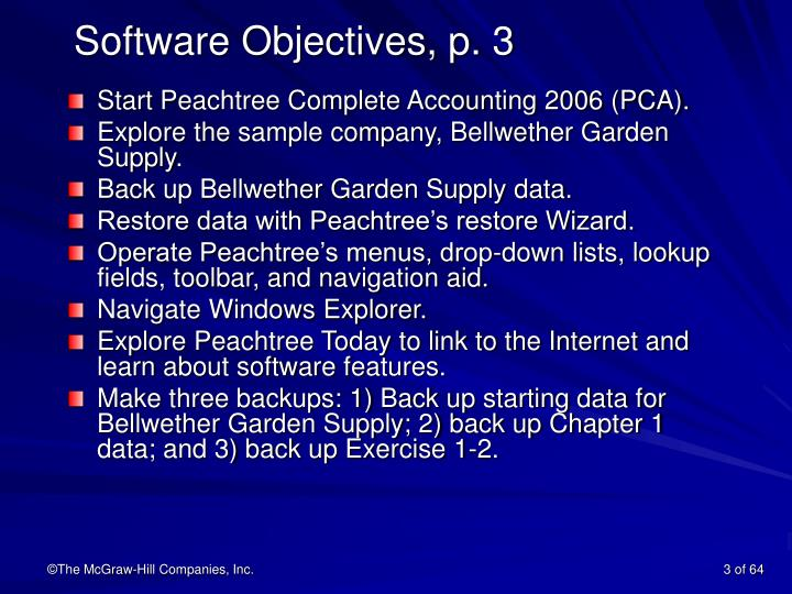 Software objectives p 3