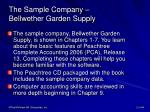 the sample company bellwether garden supply