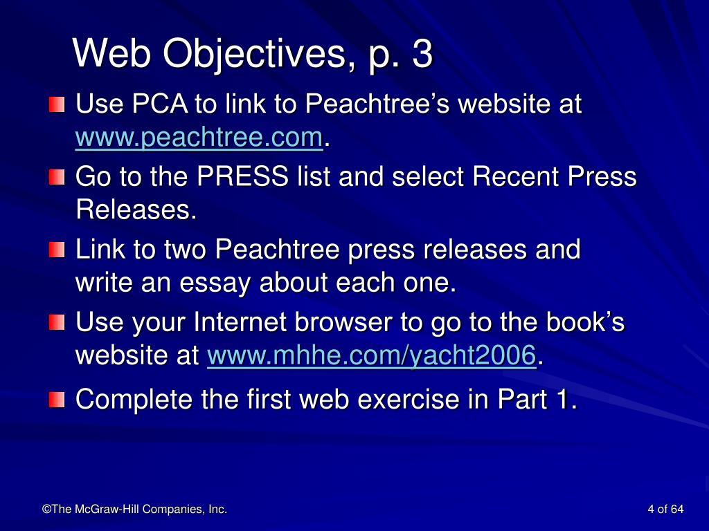 Web Objectives, p. 3