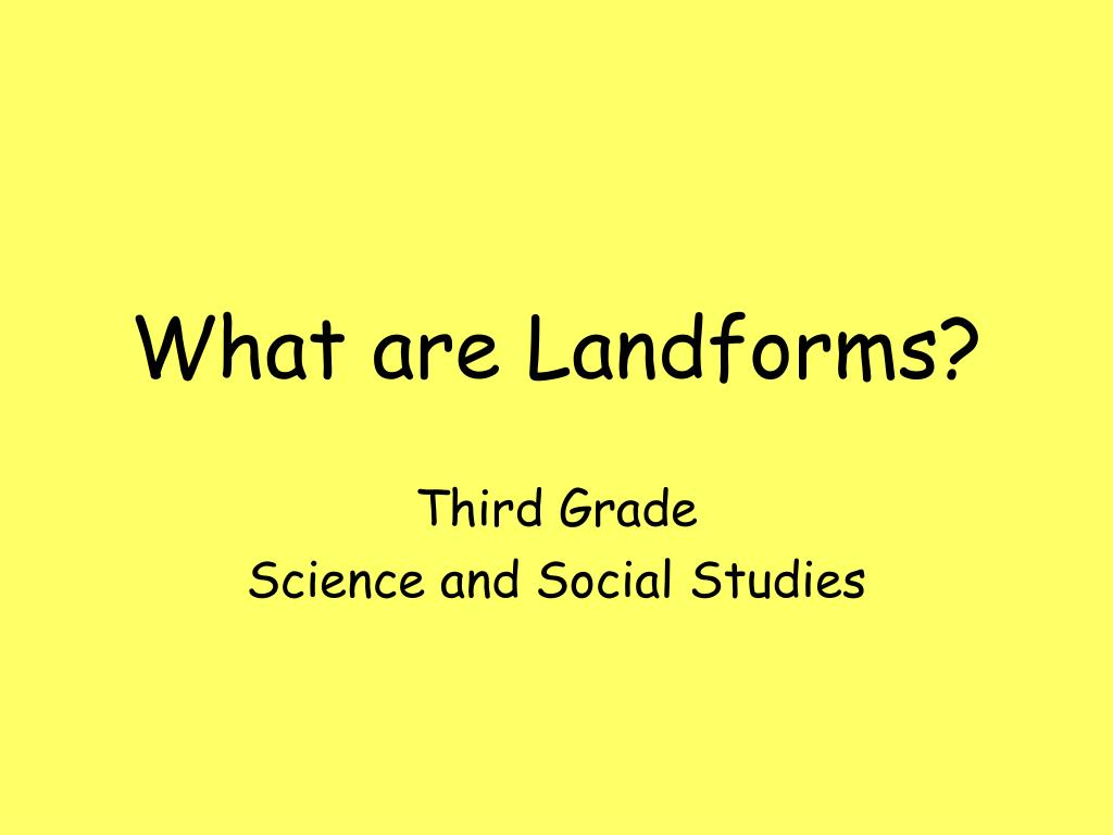 what are landforms l.