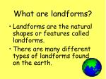 what are landforms2