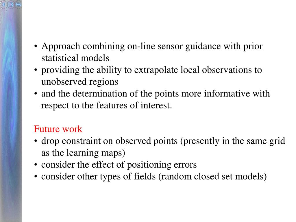 Approach combining on-line sensor guidance with prior statistical models