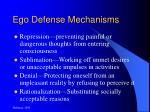 ego defense mechanisms16