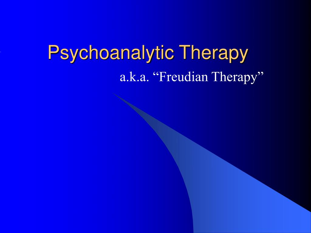 psychoanalytic therapy l.