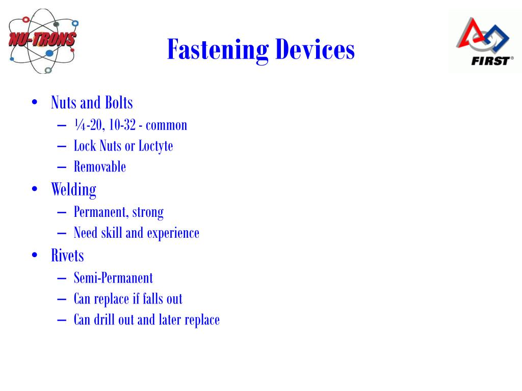 Fastening Devices