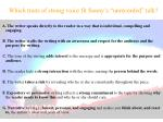 which traits of strong voice fit sonny s unrecorded talk