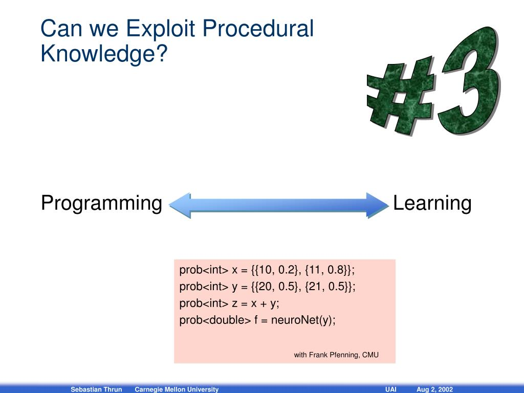 Can we Exploit Procedural Knowledge?