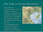 the gulf of tonkin resolution