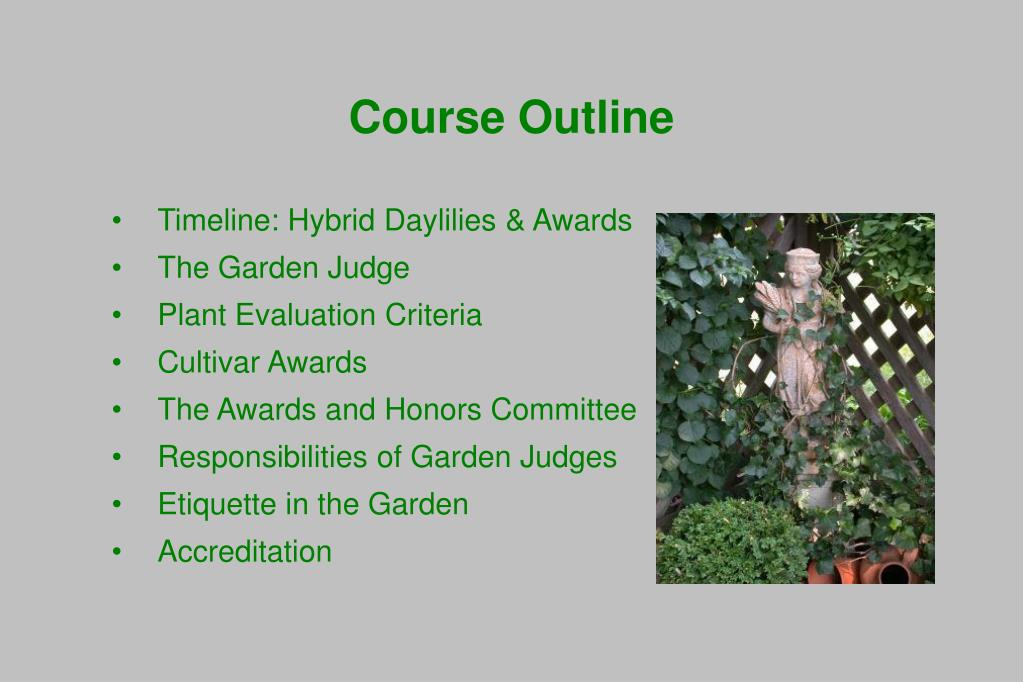 Timeline: Hybrid Daylilies & Awards