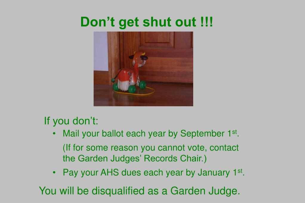 Don't get shut out !!!