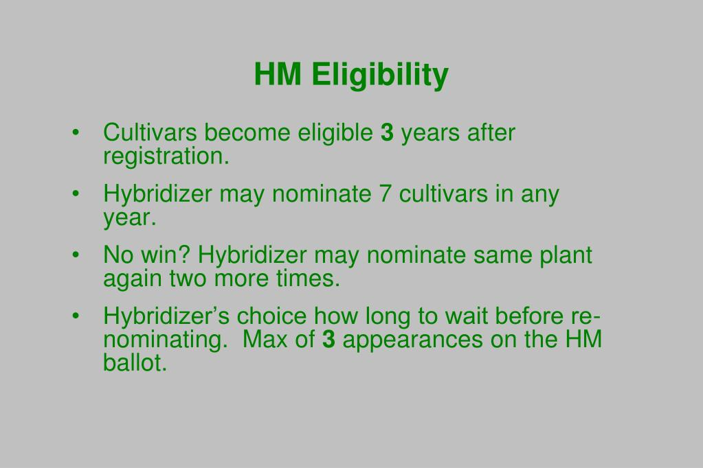 HM Eligibility