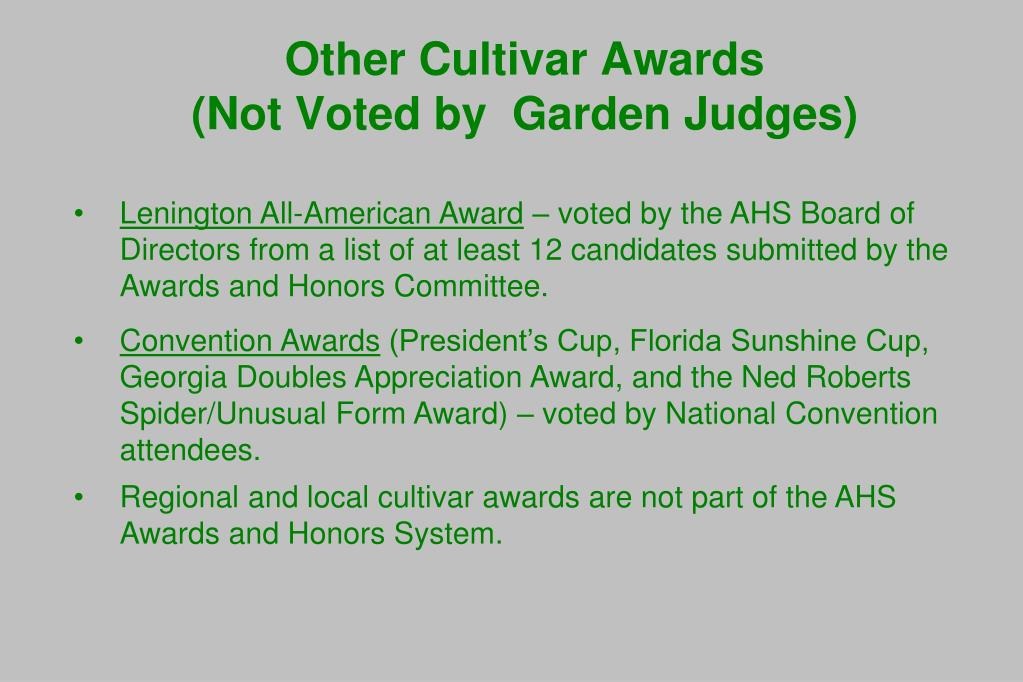 Lenington All-American Award