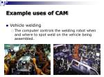example uses of cam