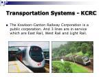 transportation systems kcrc