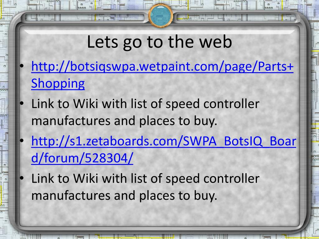 Lets go to the web