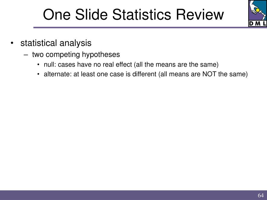 One Slide Statistics Review