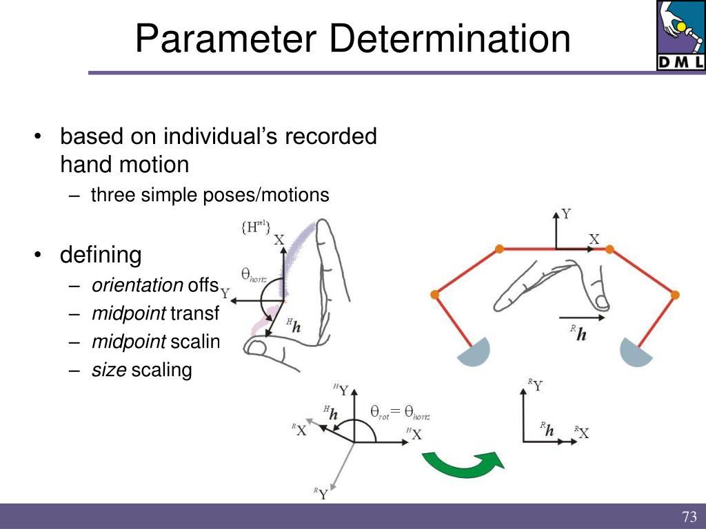 Parameter Determination