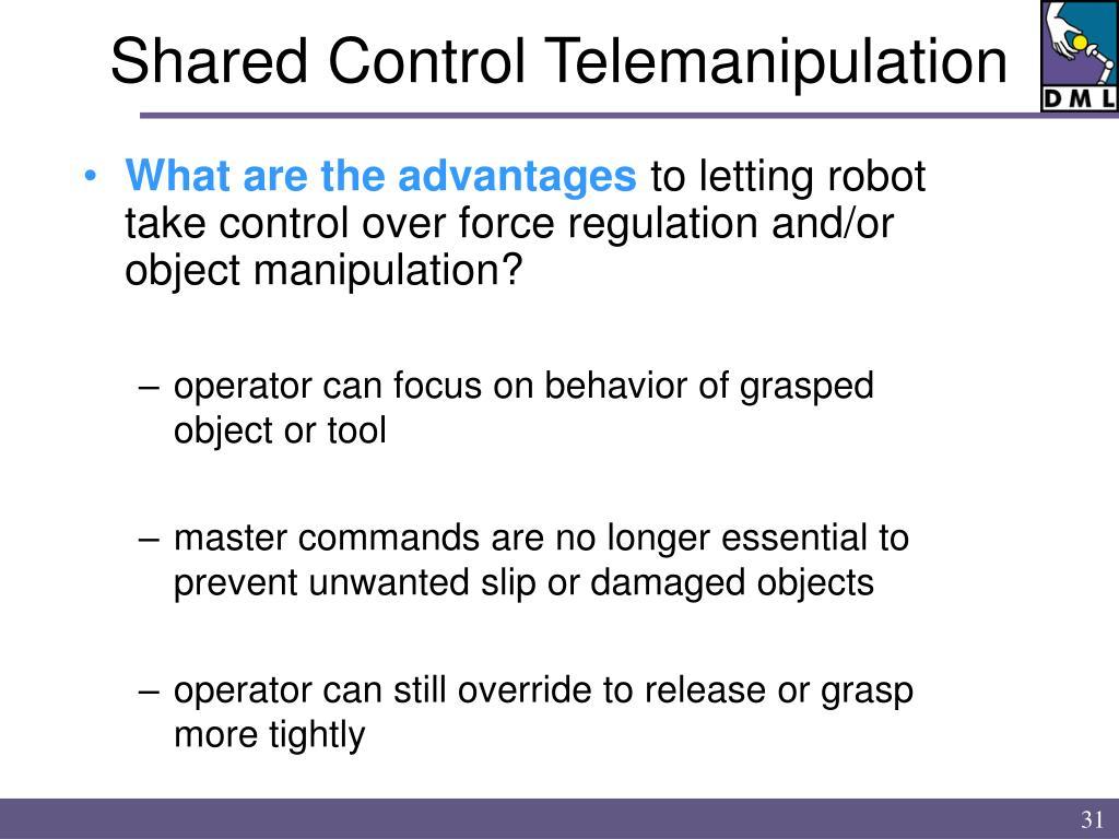 Shared Control Telemanipulation
