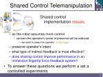 shared control telemanipulation32