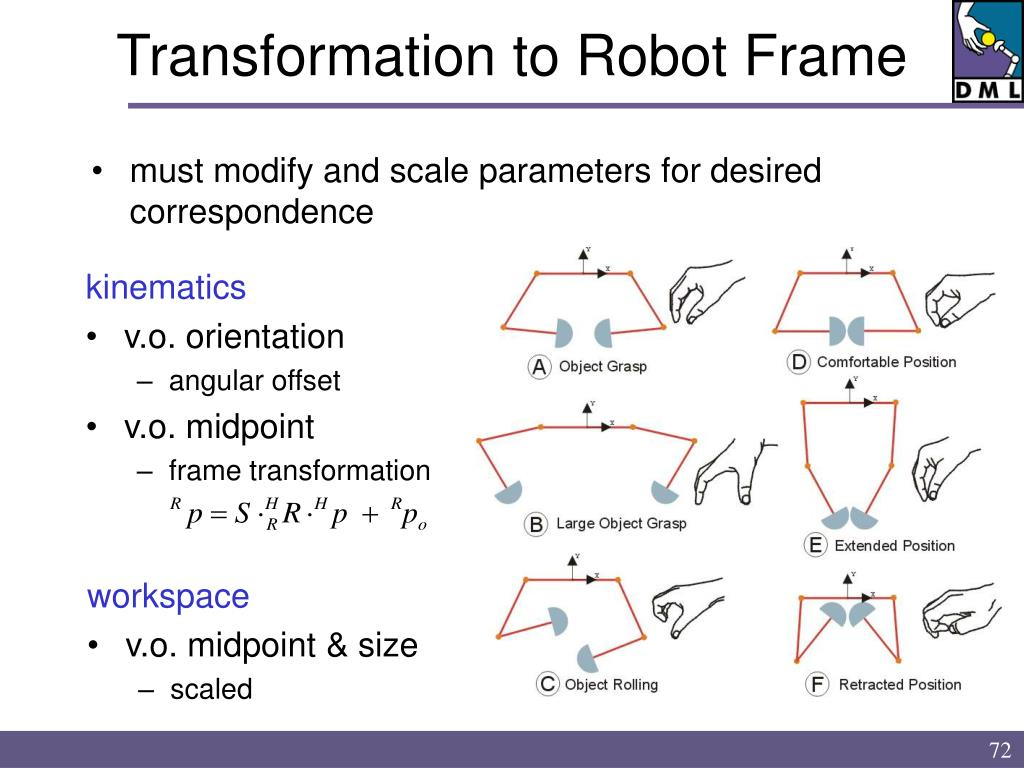 Transformation to Robot Frame