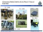 autonomous robots built by kevin moore s team at utah state